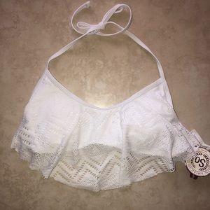 Other - Women's Crochet Flounce Bralette Bikini Top